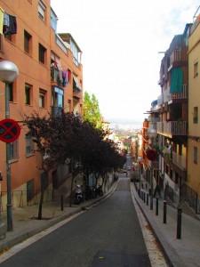 uliczka w barcelonie